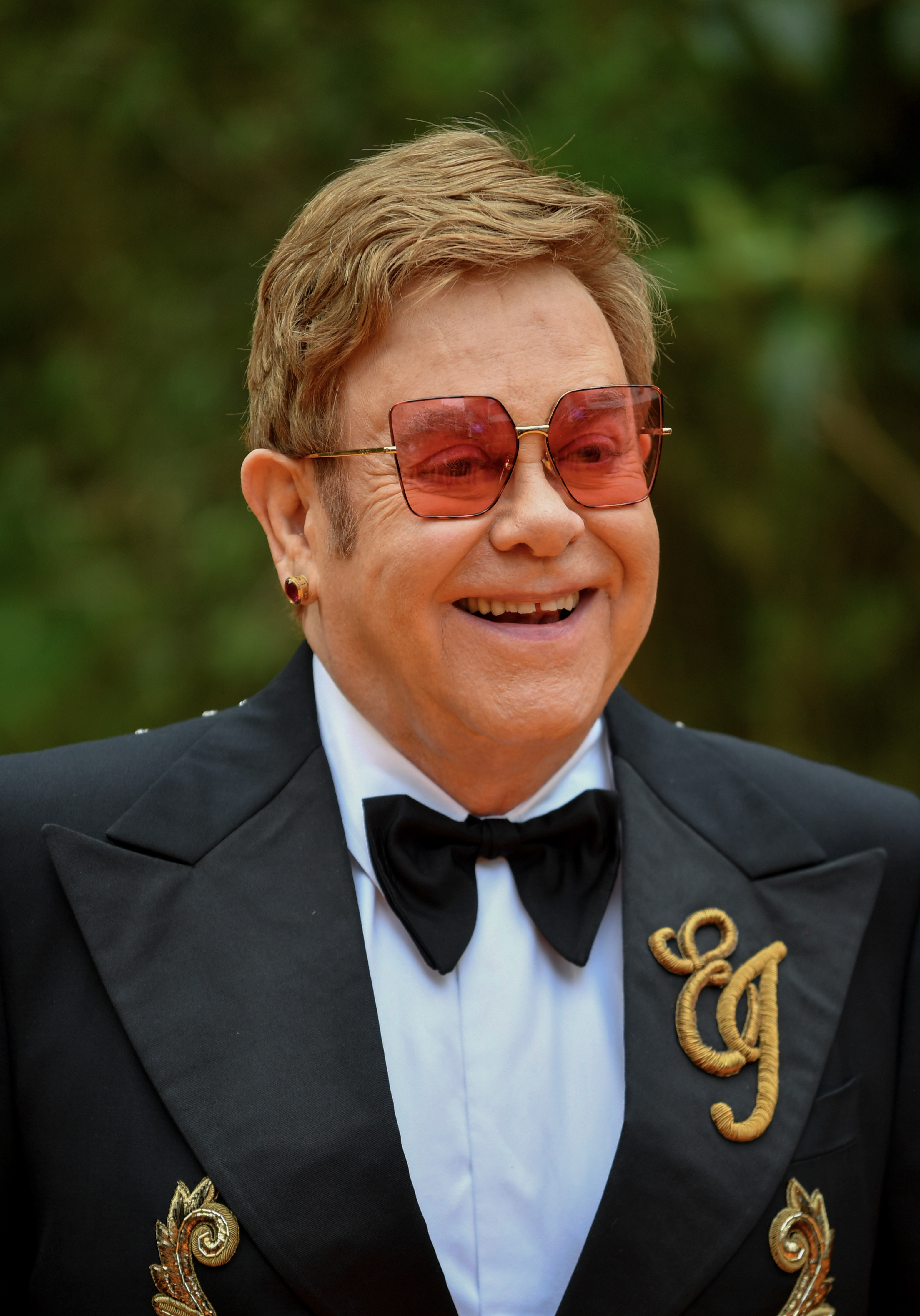 Sir Elton John attends the European Premiere of Disney's  The Lion King  at Odeon Luxe Leicester Square on July 14, 2019 in London, England.