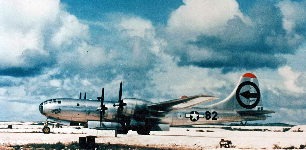 The Enola Gay was the first aircraft to drop an atomic bomb