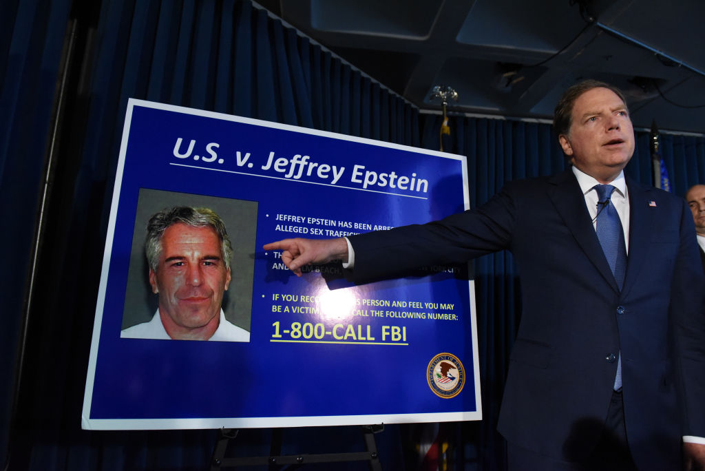 U.S. Attorney for the Southern District of New York Geoffrey Berman announces sex trafficking charges against Jeffery Epstein on July 8, 2019 in New York City.