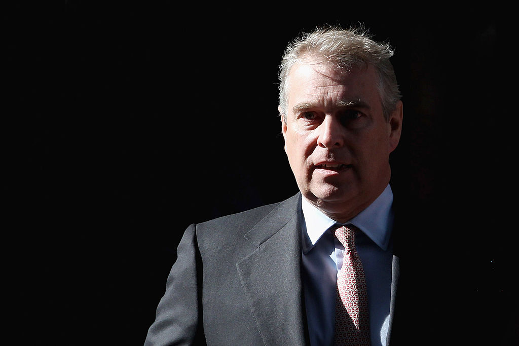 LONDON, ENGLAND - MARCH 07:  Prince Andrew, Duke of York leaves the headquarters of Crossrail at Canary Wharf on March 7, 2011 in London, England. Prince Andrew is under increasing pressure after a series of damaging revelations about him surfaced, including criticism over his friendship with convicted sex offender Jeffrey Epstein, an American financier.  (Photo by Dan Kitwood/Getty Images)