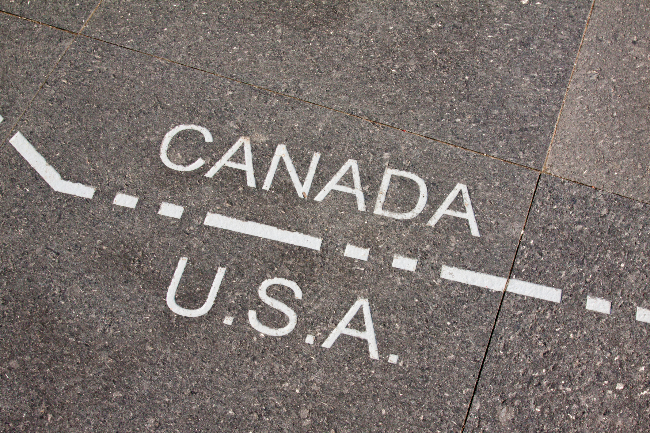 Represents the border between the United States and Canada