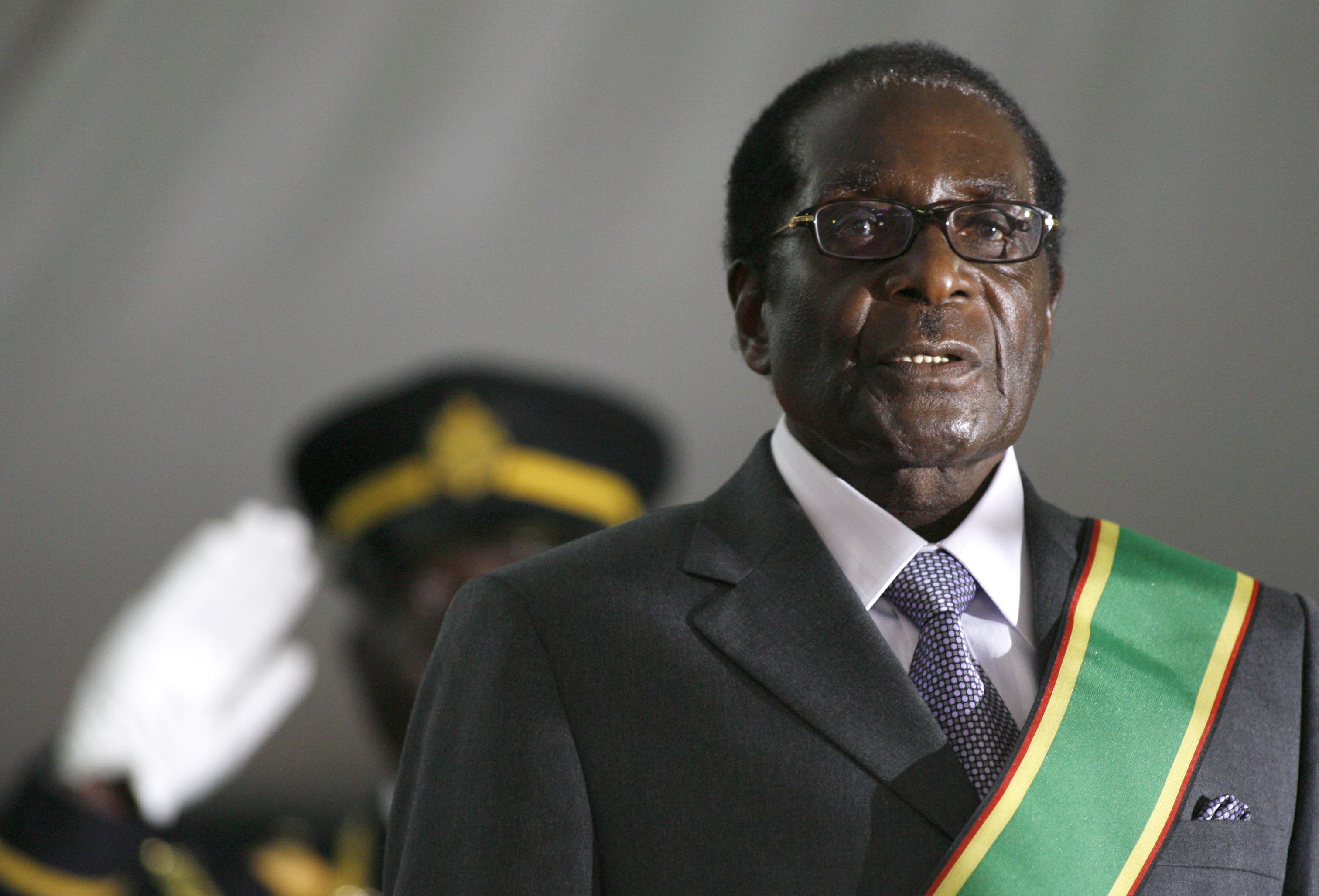 Zimbabwean President Robert Mugabe is hastily sworn in for a sixth term in office in Harare, on June 29, 2008 after being declared the winner of a one-man election.
