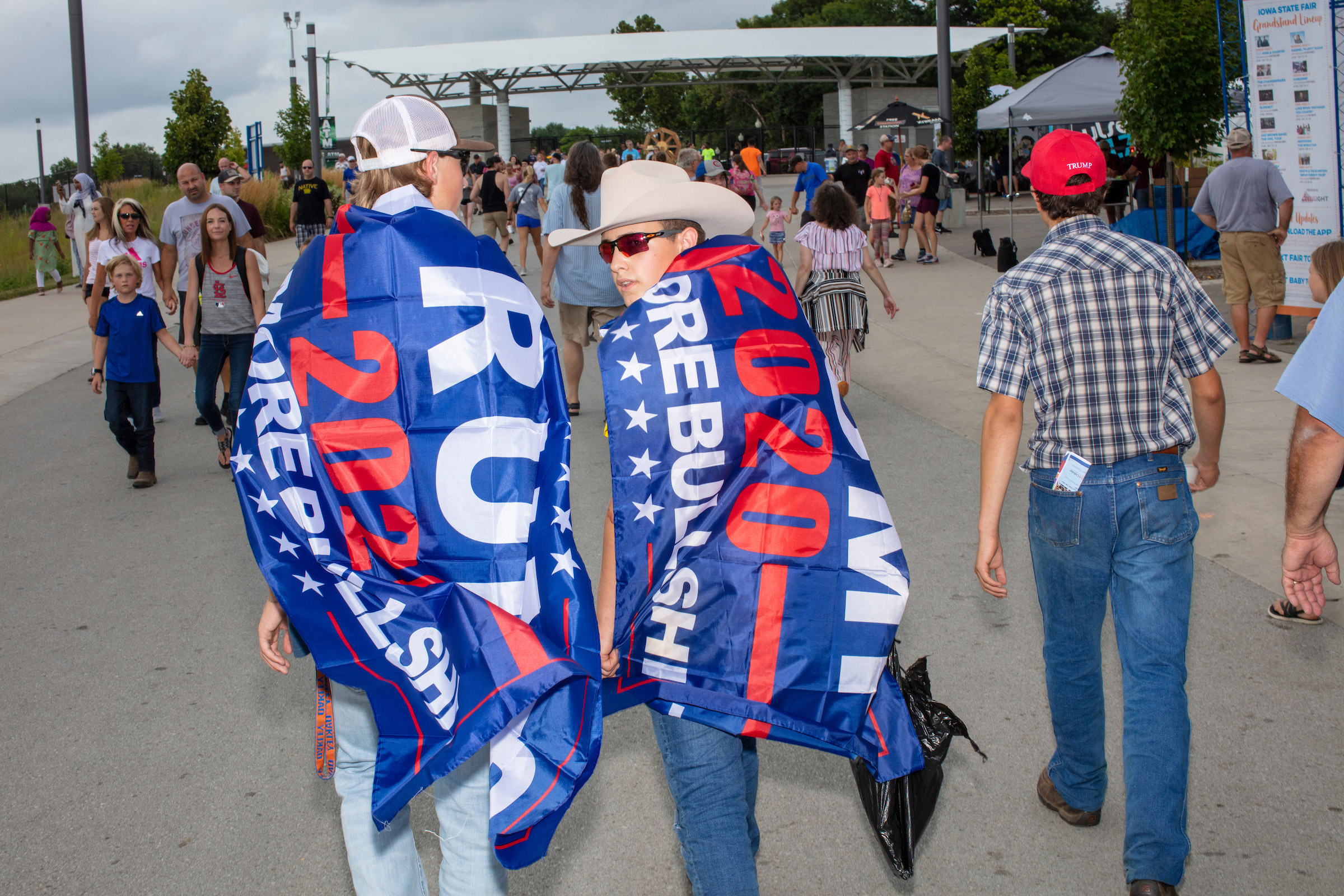 Supporters showed their support for President Donald Trump at the Iowa State Fair on Aug. 11.
