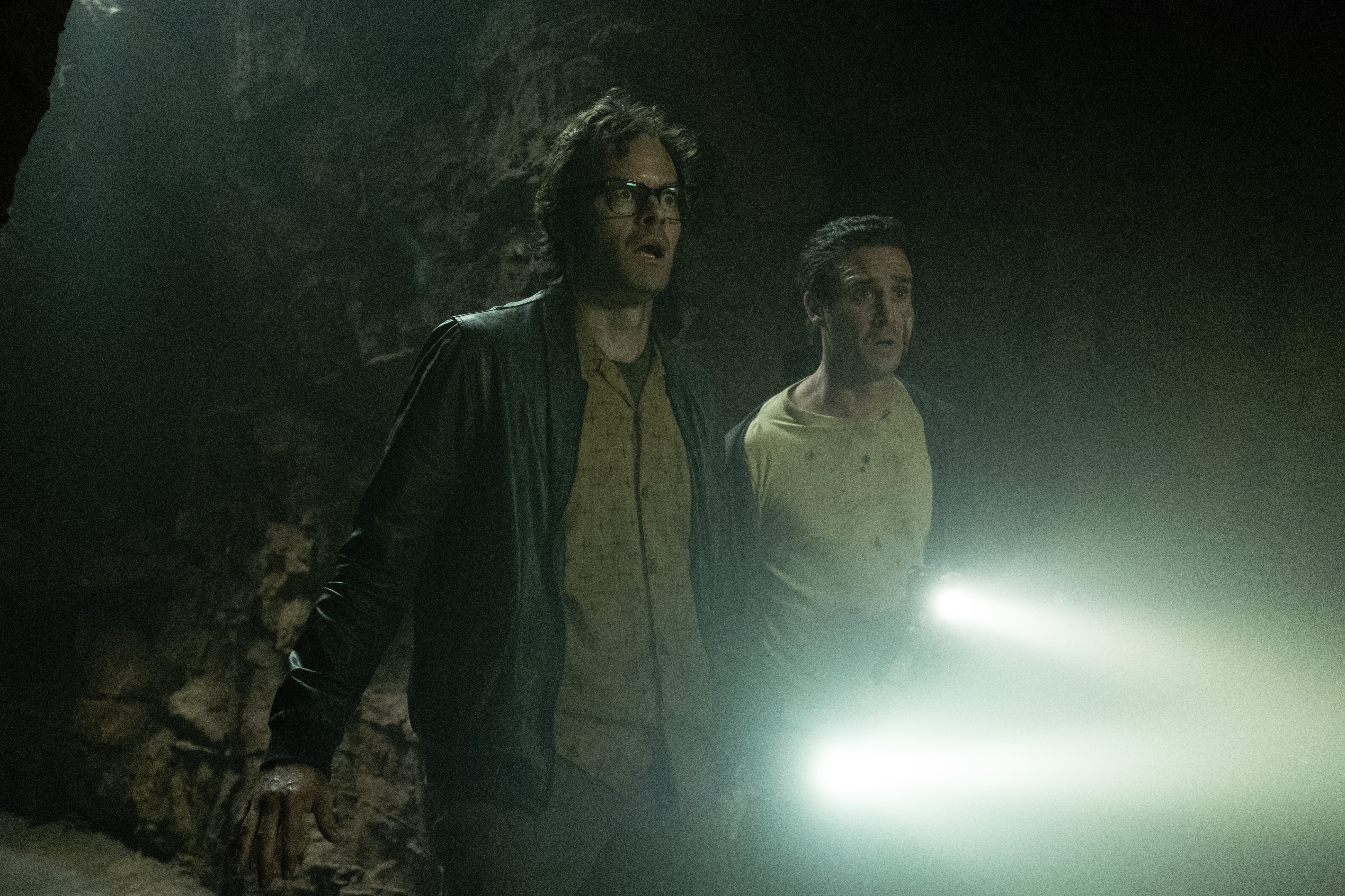 (L-r) Bill Hader as Richie Tozier and James Ransone as Eddie Kaspbrak in 'It Chapter Two'
