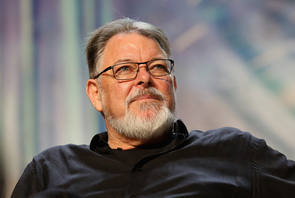 Actor and director Jonathan Frakes speaks at the  TNG - Part 2  panel during the 17th annual official Star Trek convention at the Rio Hotel & Casino in Las Vegas, Nevada on August 3, 2018.