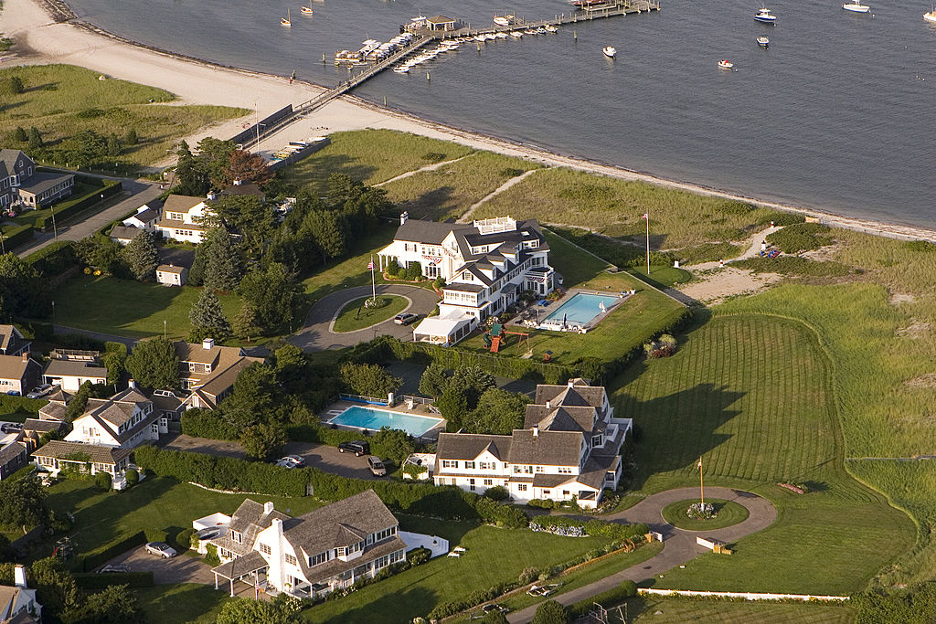 An aerial view of the Kennedy Compound on July 25, 2008 in Hyannisport, Massachusetts.