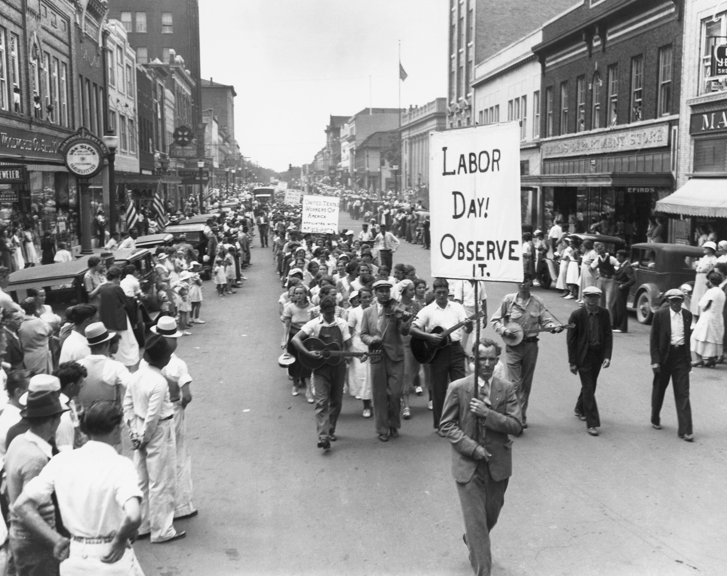 A 1934 Labor Day parade in Gastonia, N.C.
