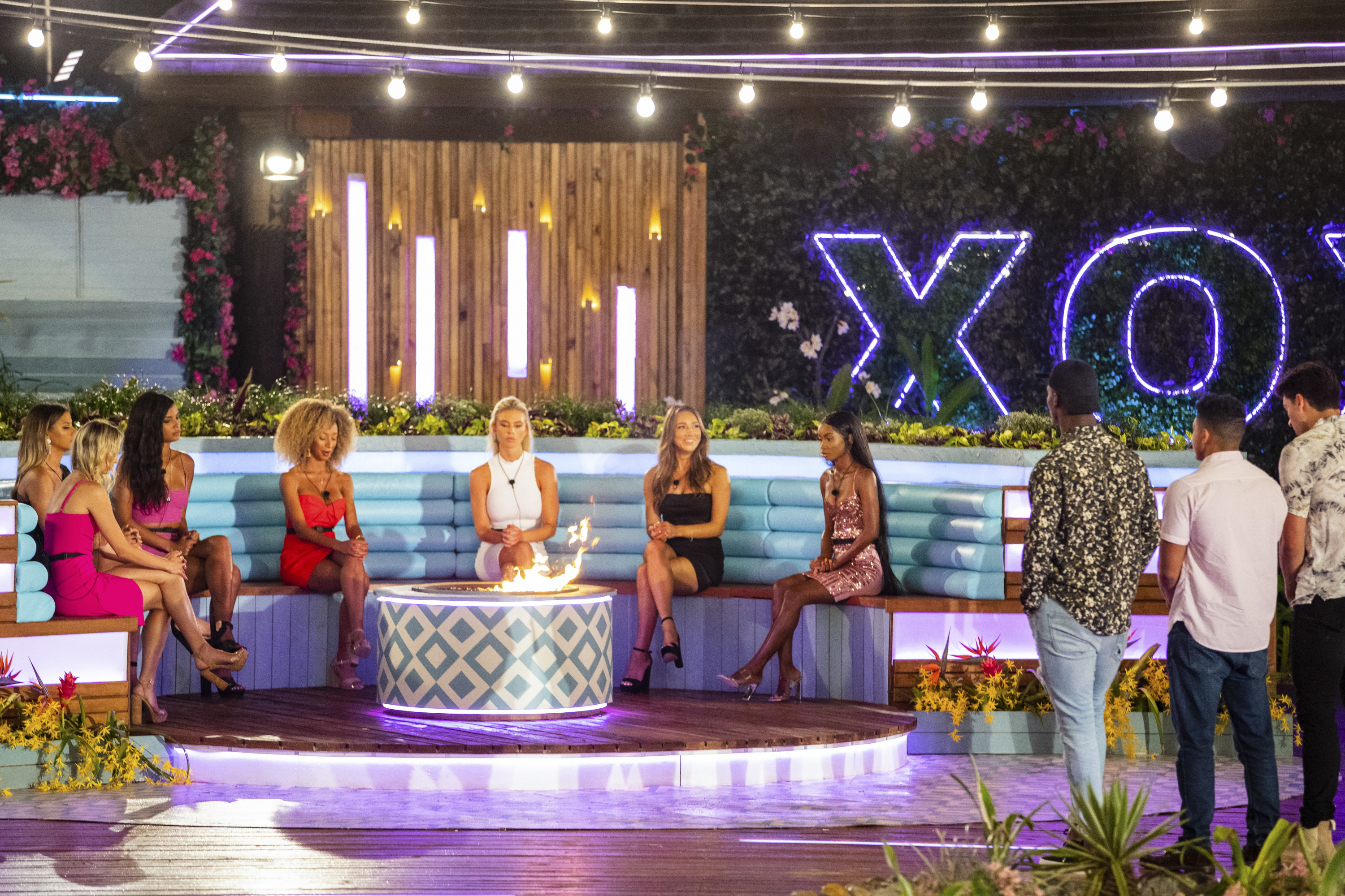 A 'Love Island' recoupling ceremony.