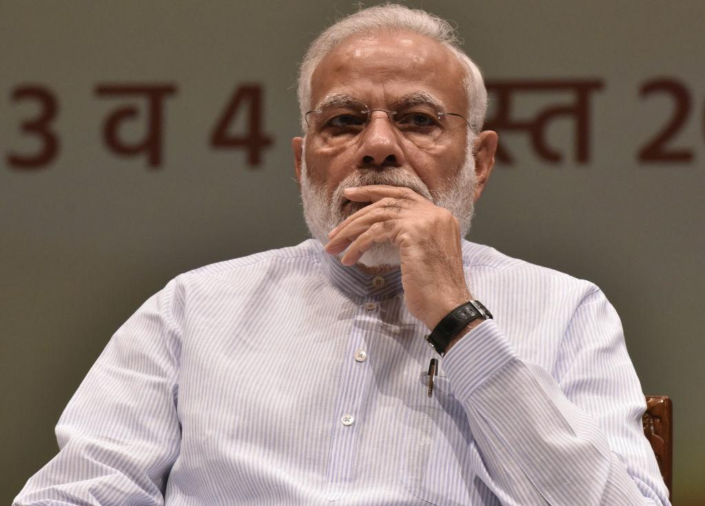 Prime Minister Narendra Modi on August 3, 2019 in New Delhi, India.