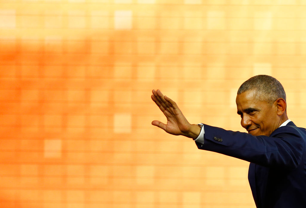 Former U.S. President Barack Obama at the World Travel and Tourism Council Global Summit on April 03, 2019 in Seville, Spain.