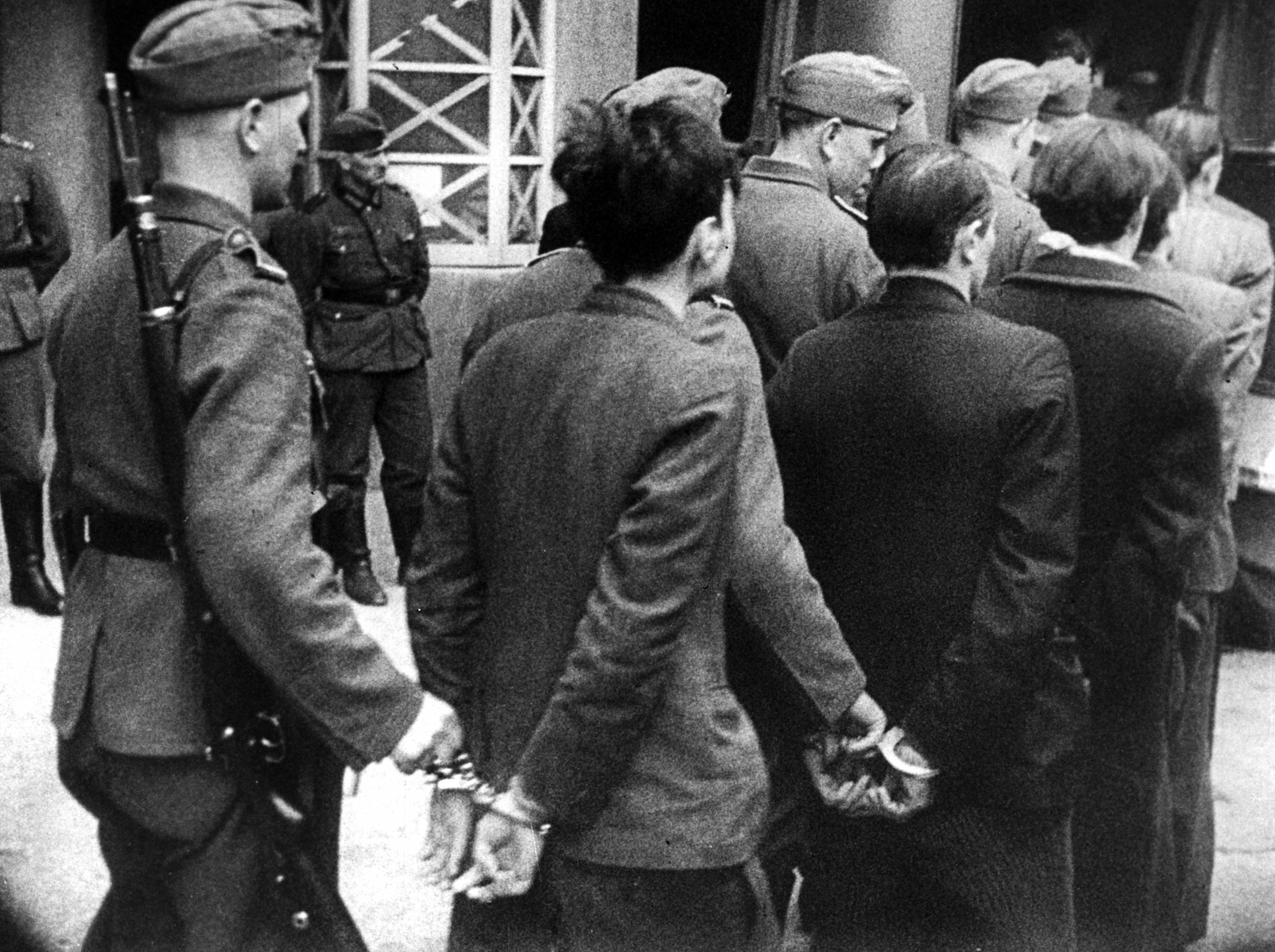 Members of the French Resistance being taken for execution after a trial before a German military tribunal, Paris, April 14, 1942.