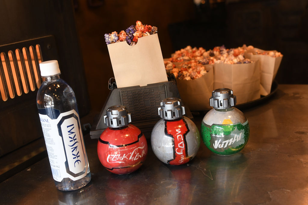 Kat Saka's Kettle  and Star Wars beverages special design at the Star Wars: Galaxy's Edge Walt Disney World Resort Opening at Disney's Hollywood Studios on Aug. 27, 2019 in Orlando, Fla.