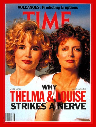 'Thelma & Louise' stars Geena Davis and Susan Sarandon on the cover of TIME's June 24, 1991 issue