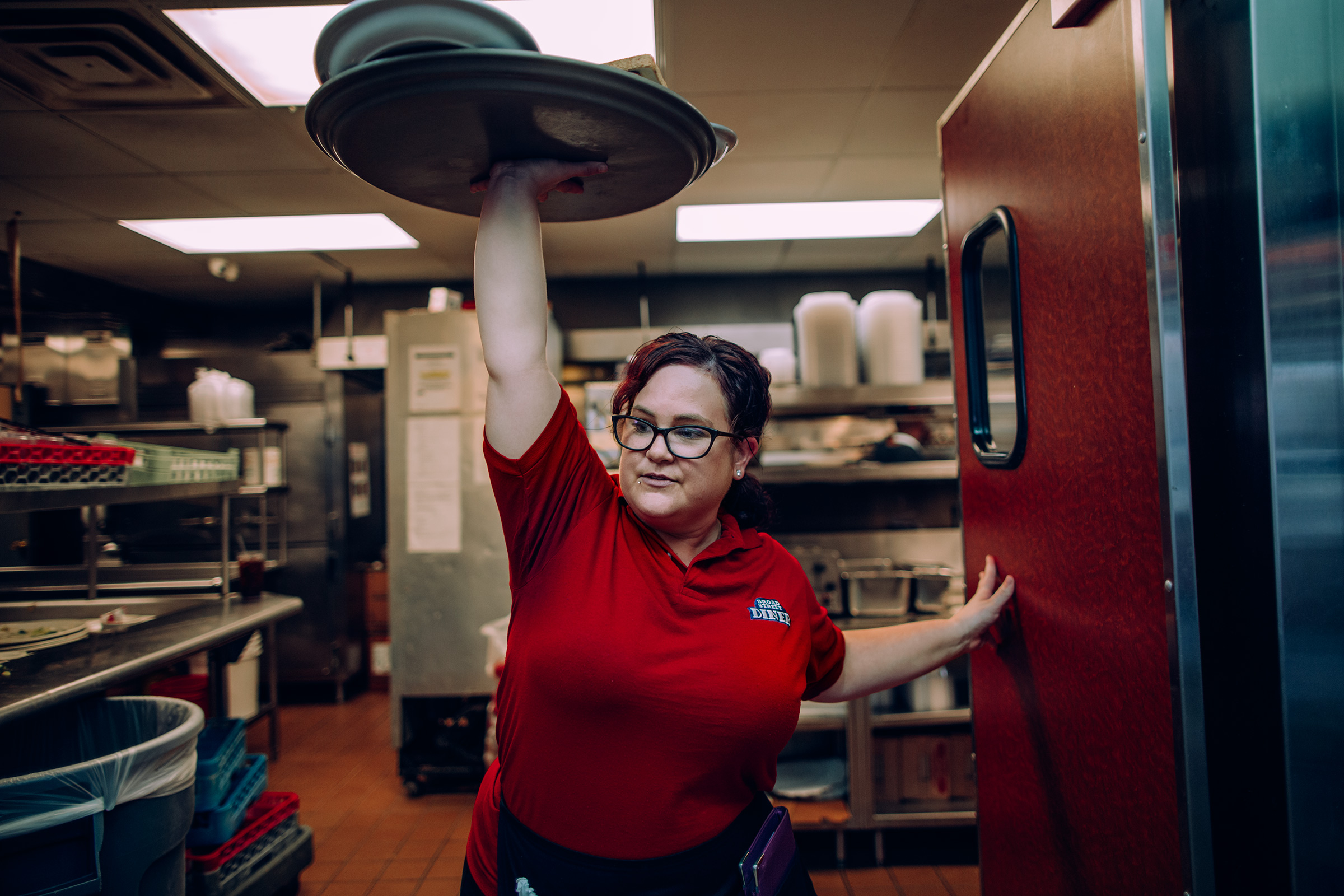 Christina Munce waits tables at Broad Street Diner in Philadelphia, where she's worked for more than eight years.