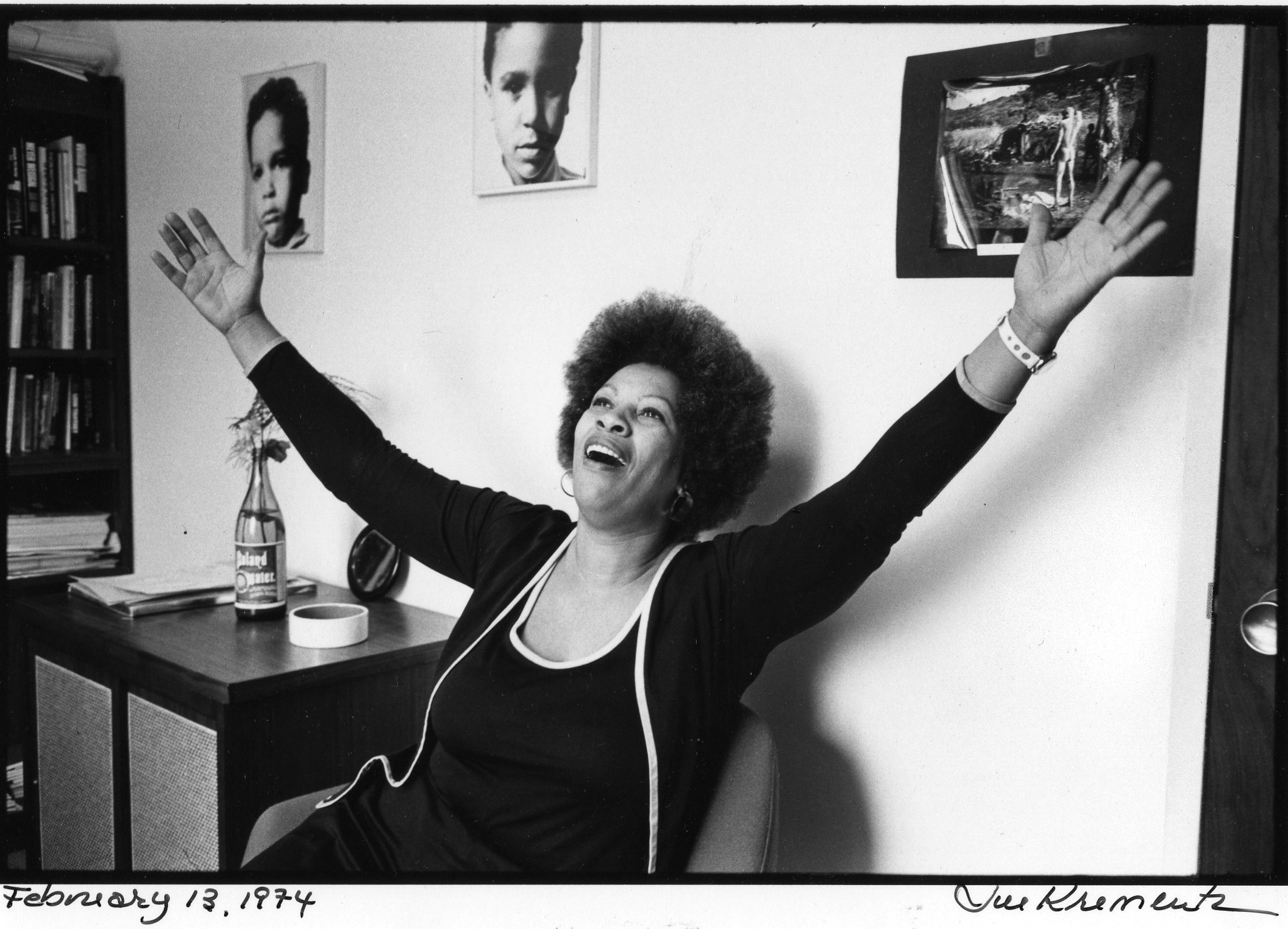Morrison, in her office at Random House, on Feb. 13, 1974