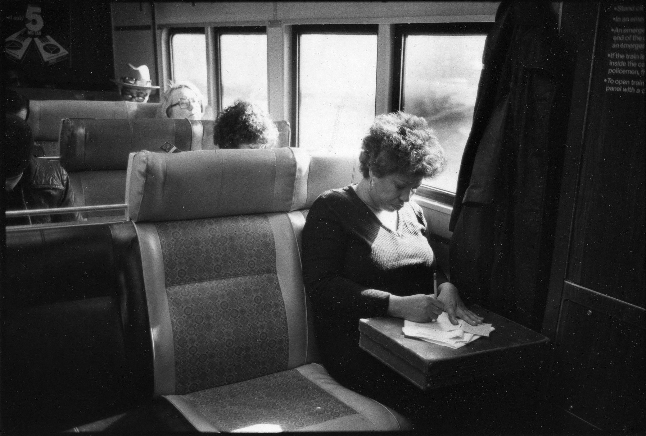 Morrison on her way to Yale University, where she was teaching in the department of African-American studies.