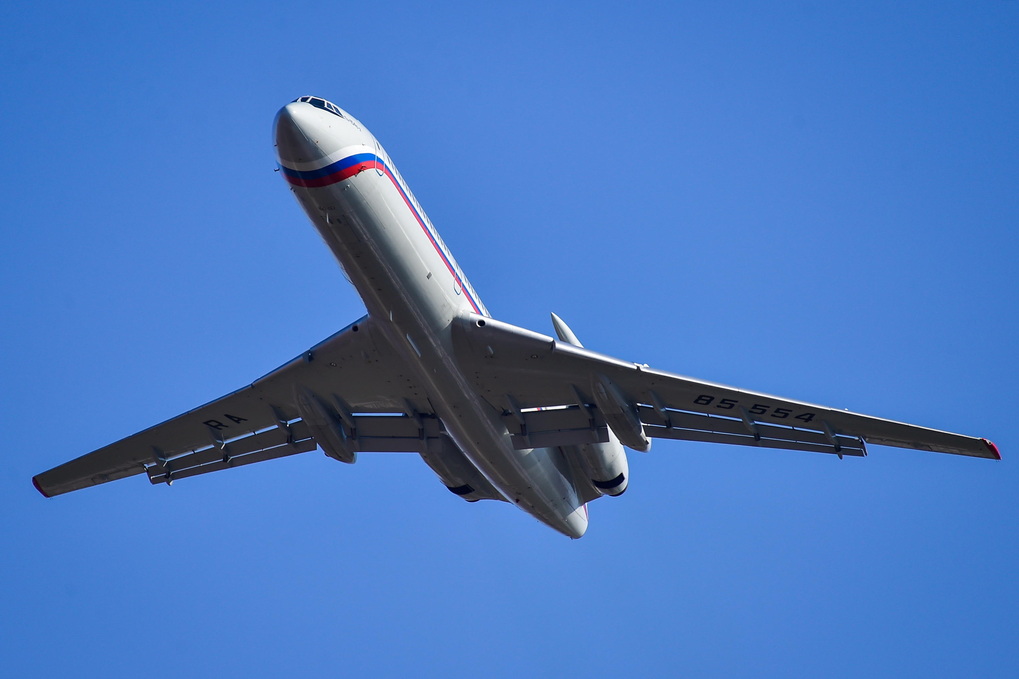 A Russian Tupolev Tu-154 (like the above) was spotted flying across the Midwestern U.S. this week as part of the Open Skies Treaty, which allows nations to make surveillance flights that are declared in advance.