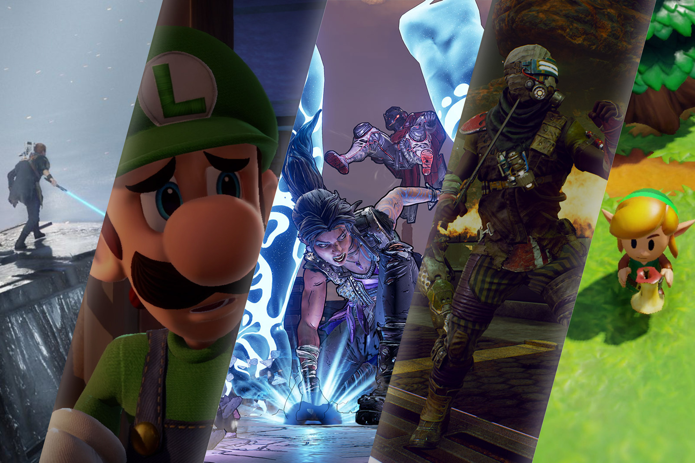 Star Wars Jedi: Fallen Order; Luigi's Mansion 3; Borderlands 3; The Outer Worlds; The Legend of Zelda: Link's Awakening