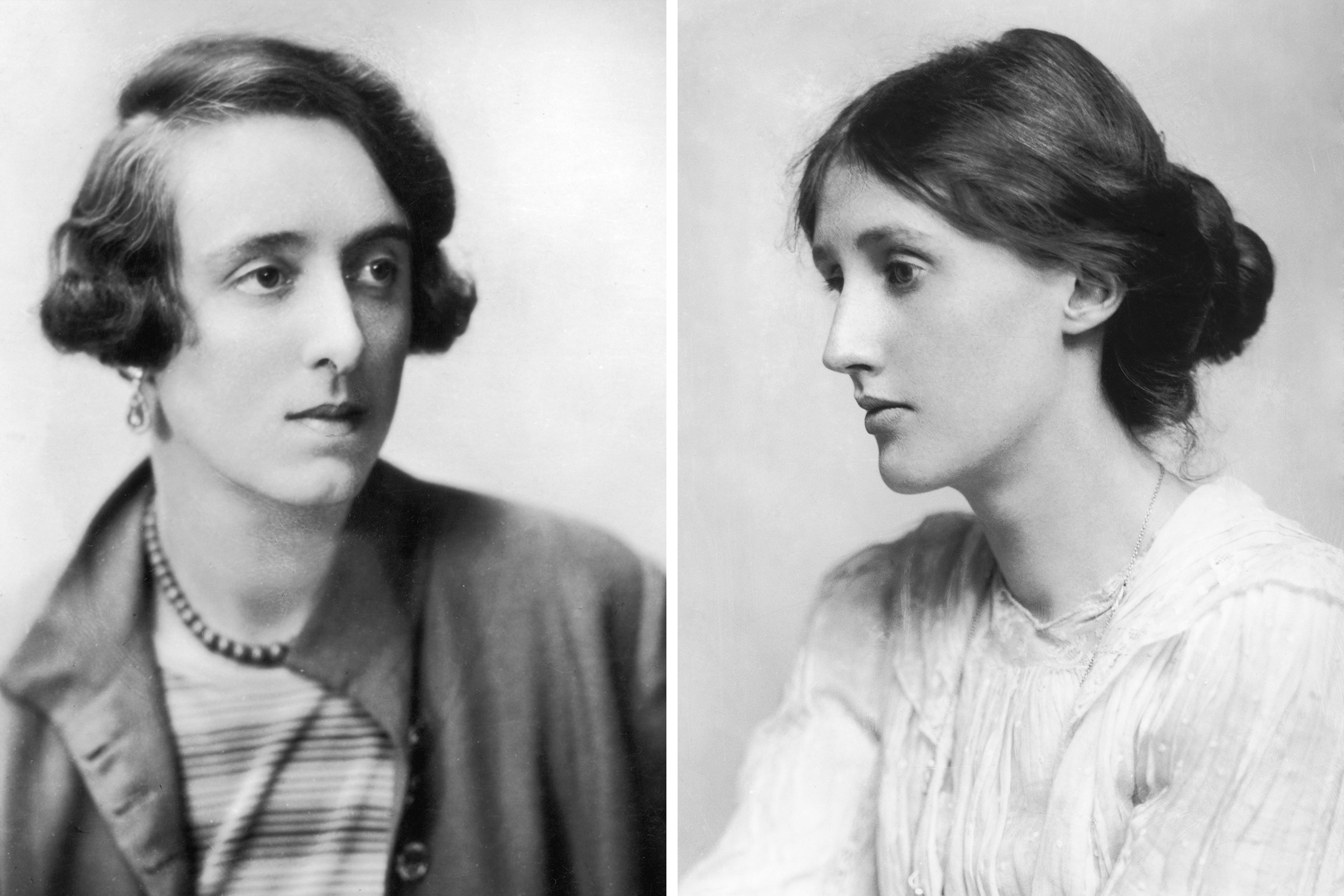 L to R: Vita Sackville-West and Virginia Woolf