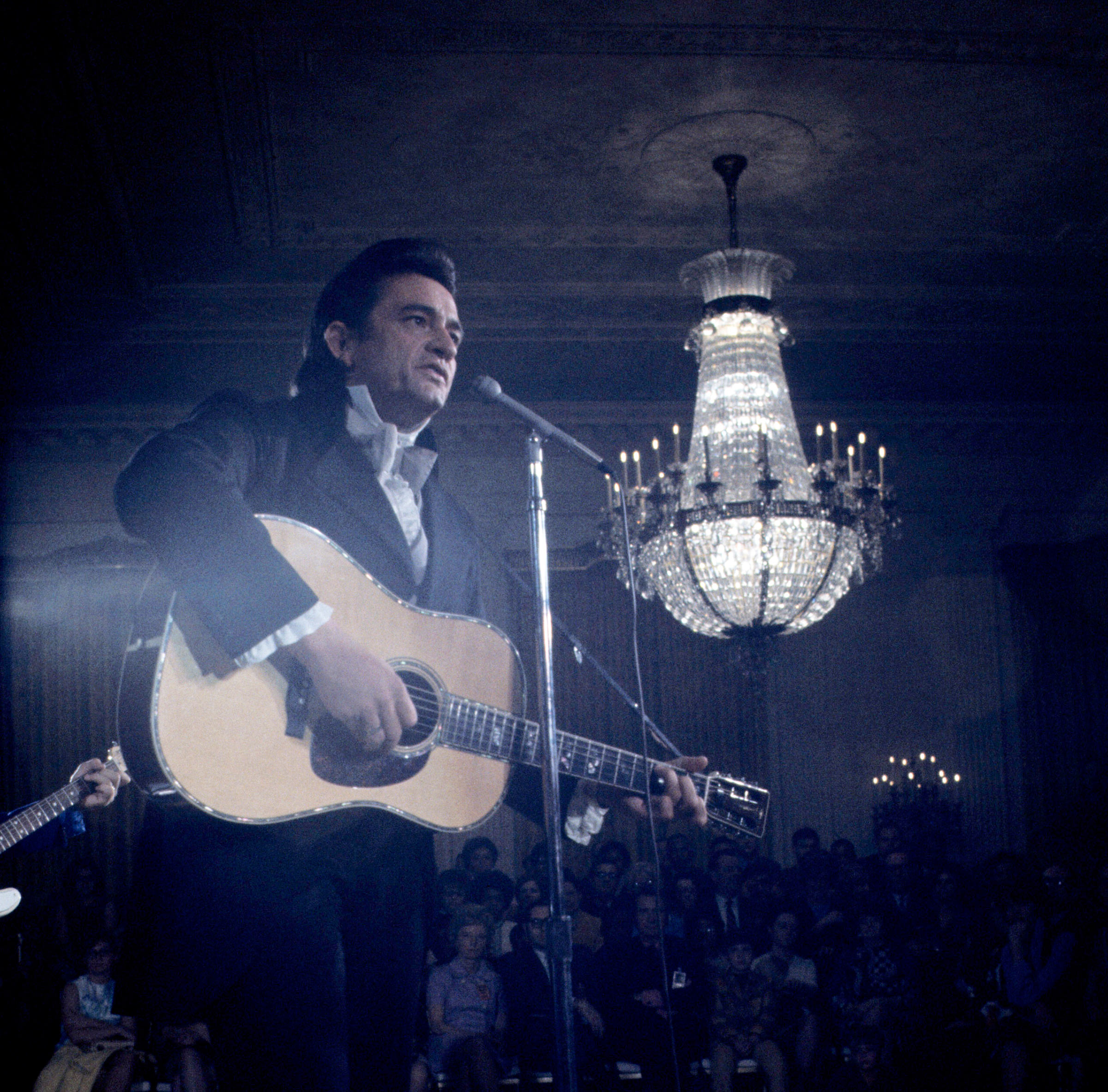 The Man in Black, seen performing at the White House in 1970, embodied country's complexity.JOHNNY CASH