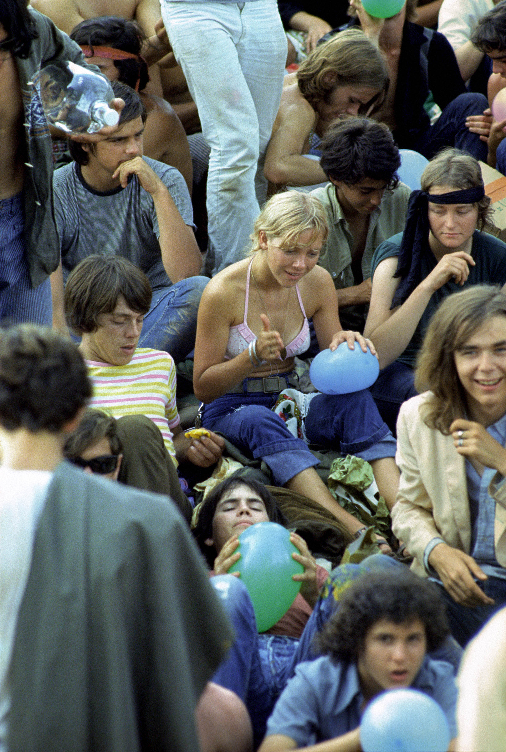 The crowd at Woodstock, in 1969.