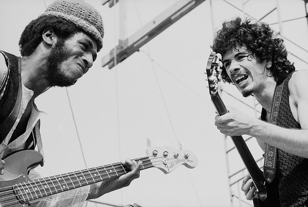 Lot of 5 Photos Live at Woodstock 1969 Sly Cocker Santana Winter Hendrix