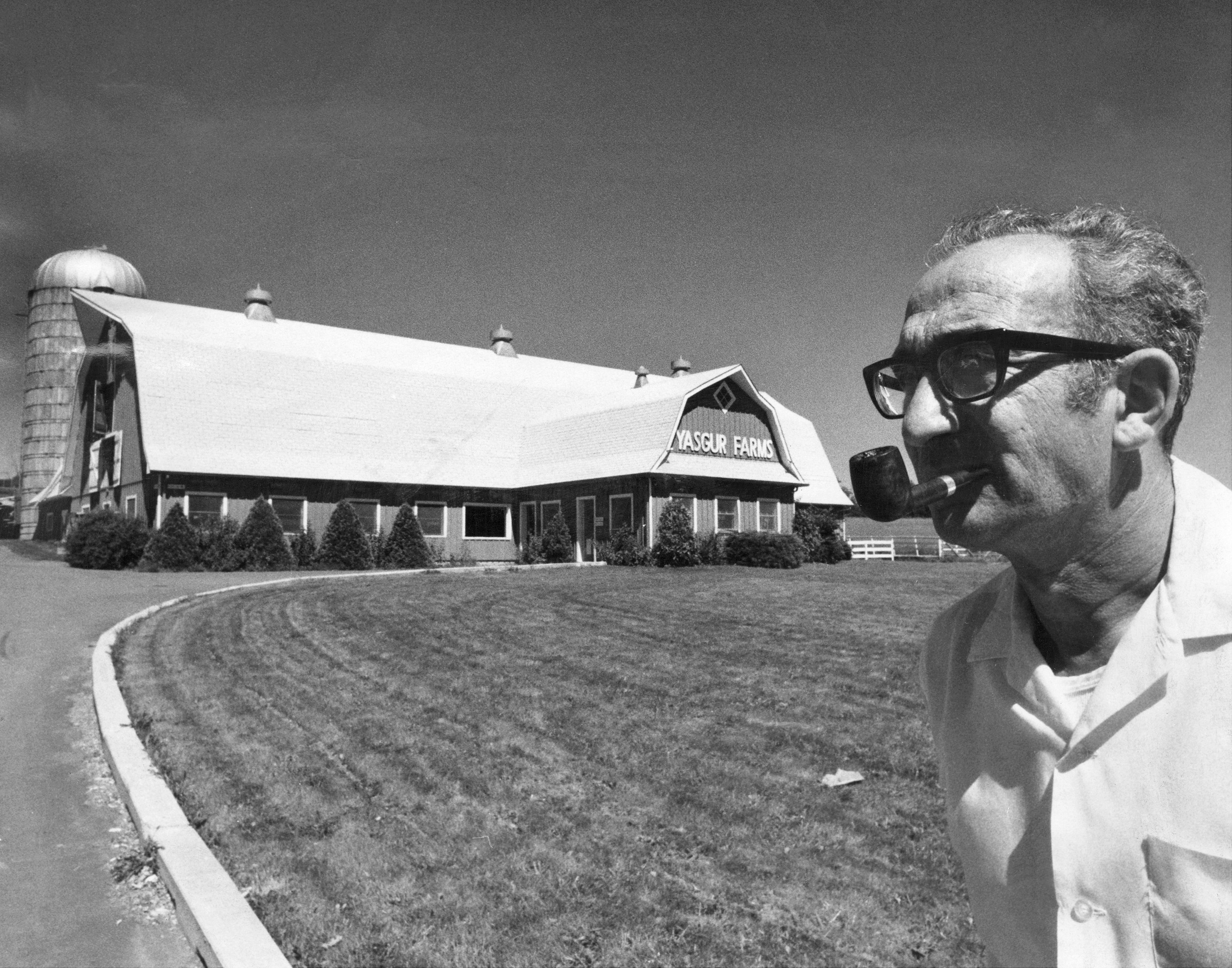 Max Yasgur, whose land was used for Woodstock festival in Monticello, N.Y. He said he doubts he'll ever rent the place again.  Farming's my business. I'm not out for publicity.