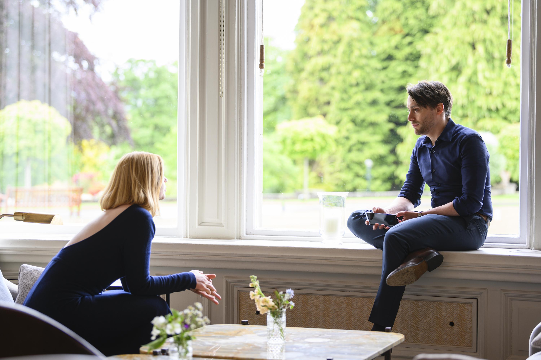 Sarah Snook and Kieran Culkin in 'Succession.'