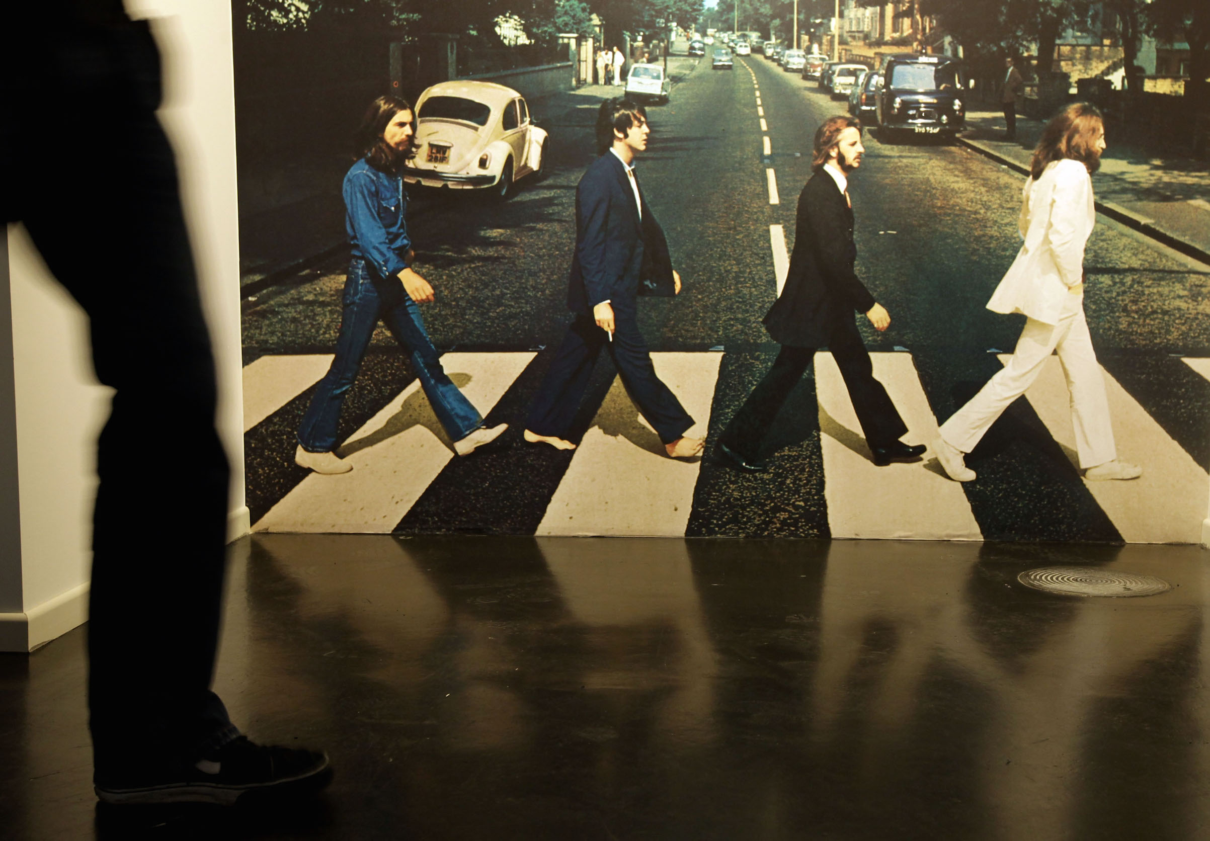 The 'Abbey Road Studio' room is seen at the Beatlemania exhibition on May 28, 2009 in Hamburg, Germany
