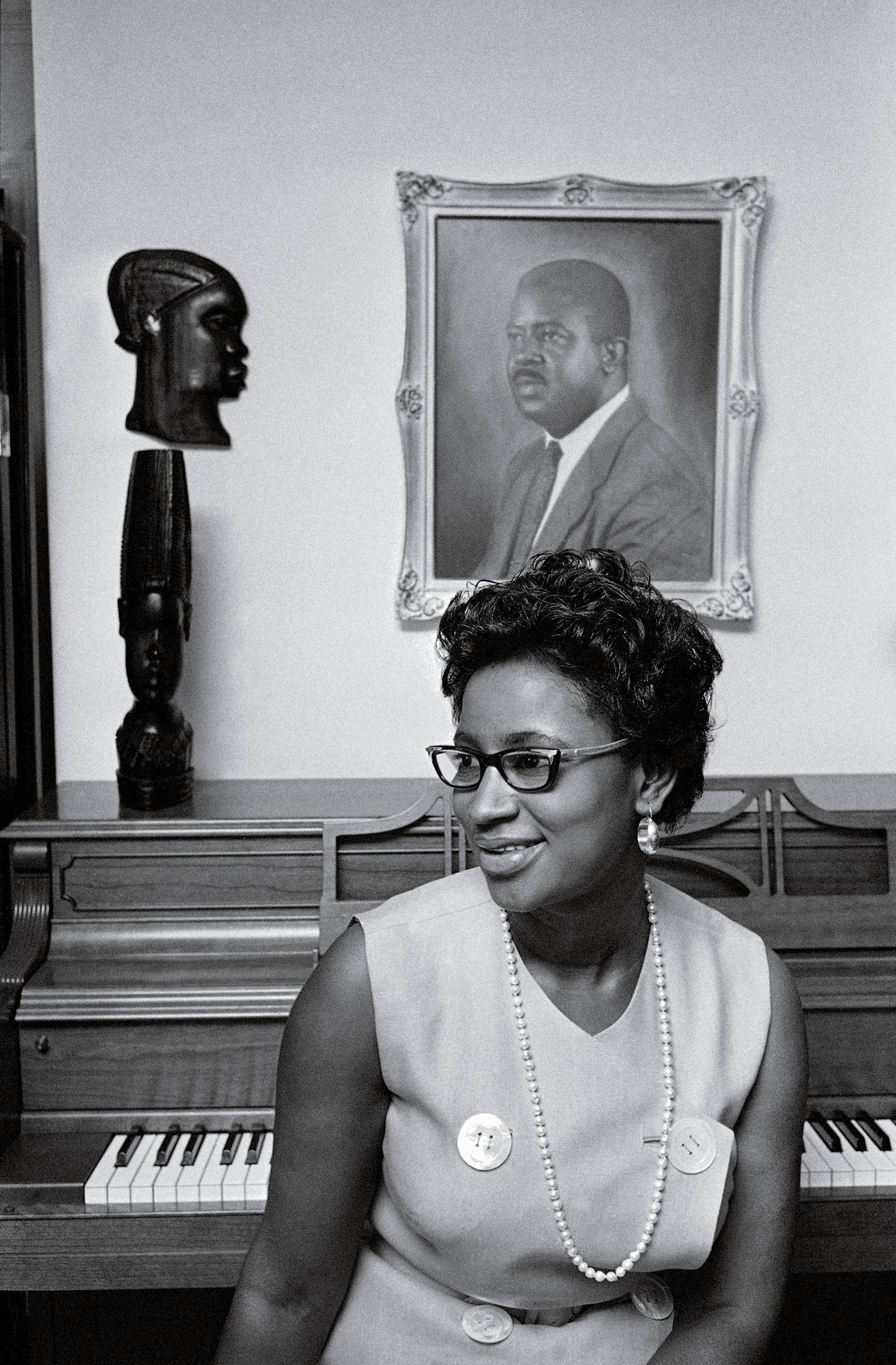Juanita Abernathy at her home in Atlanta, July 3, 1969