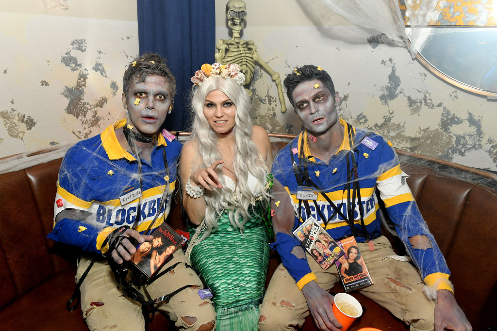 Antoni Porowski and Kevin Harrington attend Heidi Klum's 20th Annual Halloween Party at Cathédrale New York on October 31, 2019 in New York City.