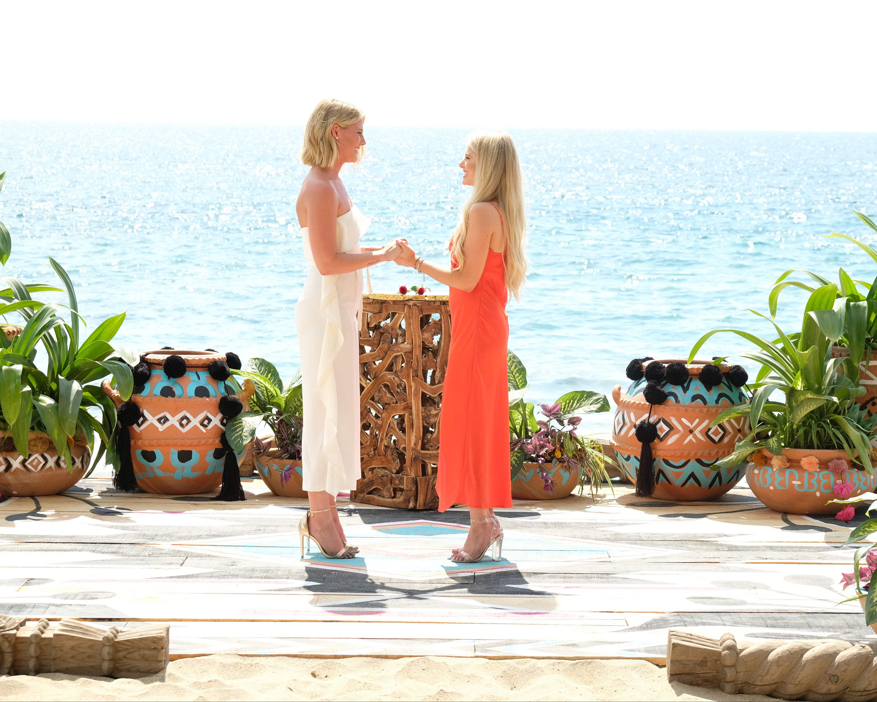 Kristian Haggerty and Demi Burnett got engaged on the season finale of 'Bachelor in Paradise,' becoming the first same-sex couple in 'The Bachelor' franchise.