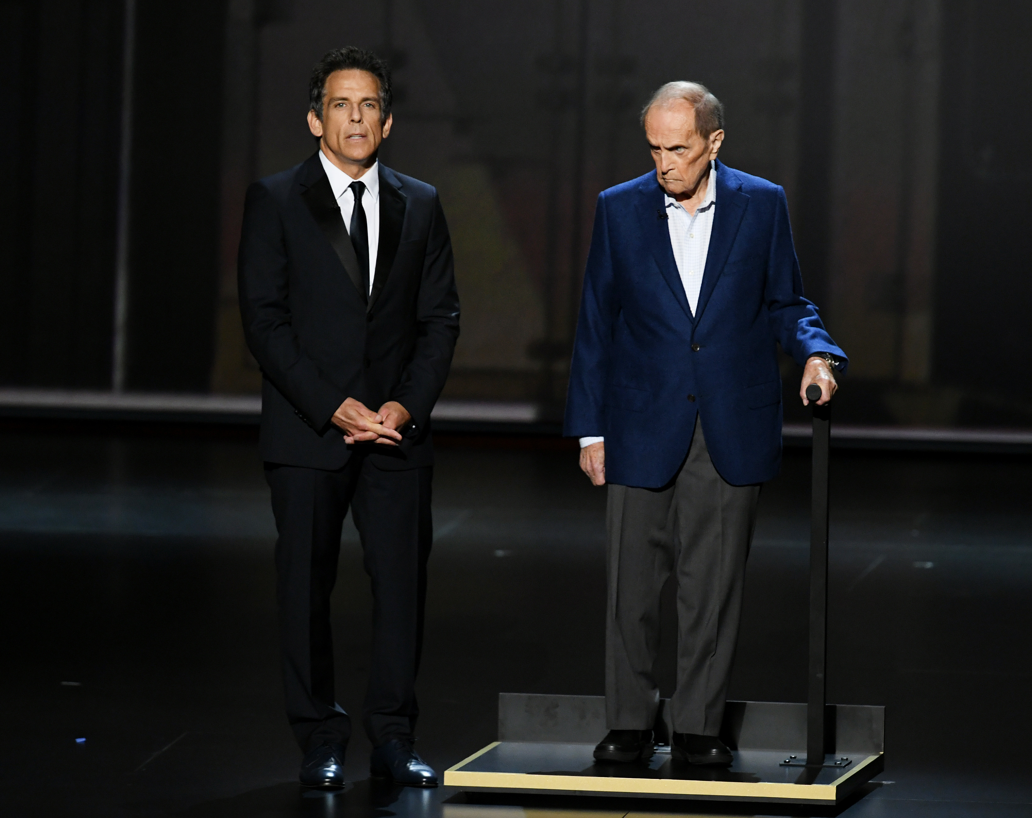 Ben Stiller and Bob Newhart during the 71st Emmy Awards at Microsoft Theater on September 22, 2019.