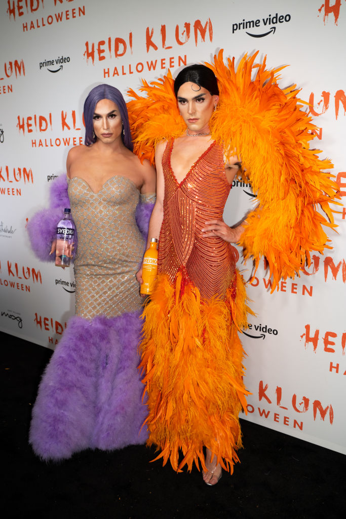 Benito Skinner and Terrence O'Connor attend Heidi Klum's 20th Annual Halloween Party at Cathédrale on October 31, 2019 in New York City.