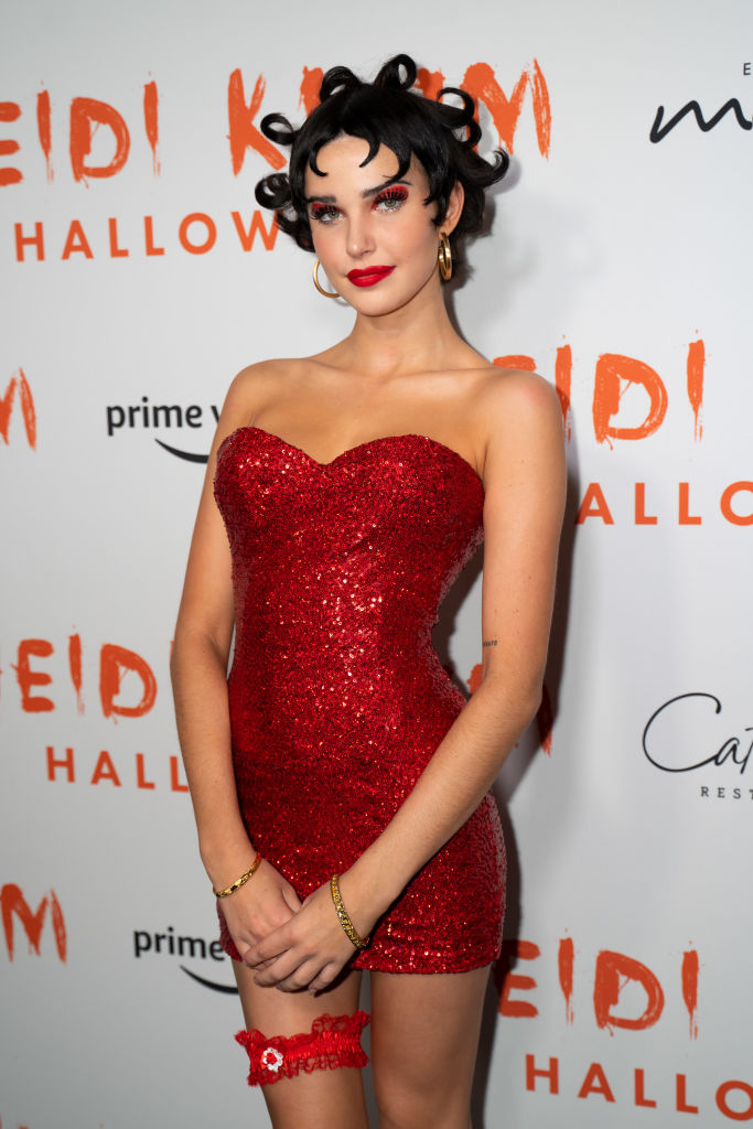 Charlotte D'Alessio attends Heidi Klum's 20th Annual Halloween Party at Cathédrale on October 31, 2019 in New York City.