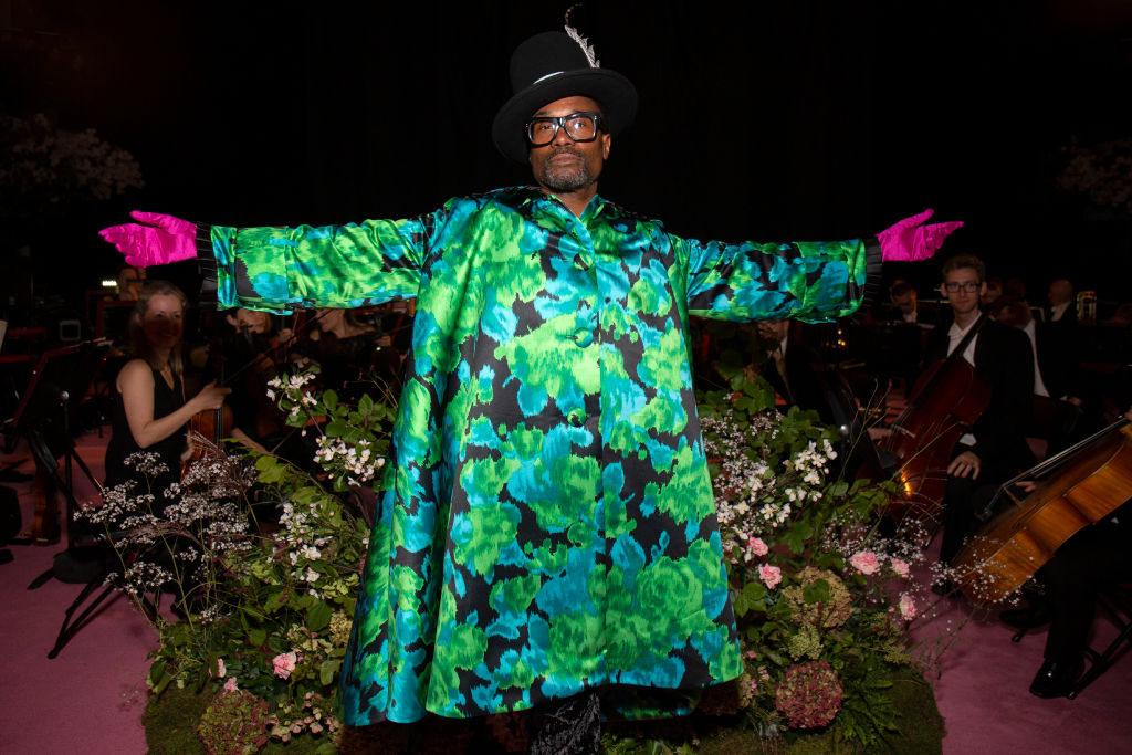 Billy Porter attends 'Richard Quinn S/S 2020' fashion show during London Fashion Week September 2019 London on September 16, 2019 in London, England.