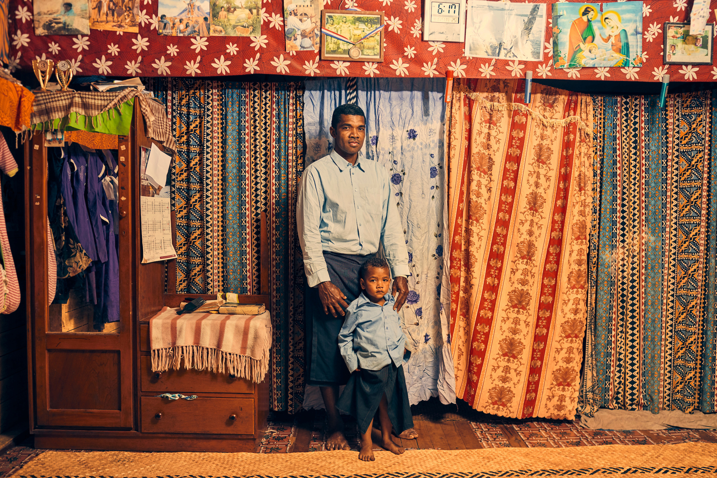 Apisai Logaivau and his family were relocated from their village due to the effects of climate change. Vunidogoloa was the first place in Fiji to relocate, but it won't be the last.