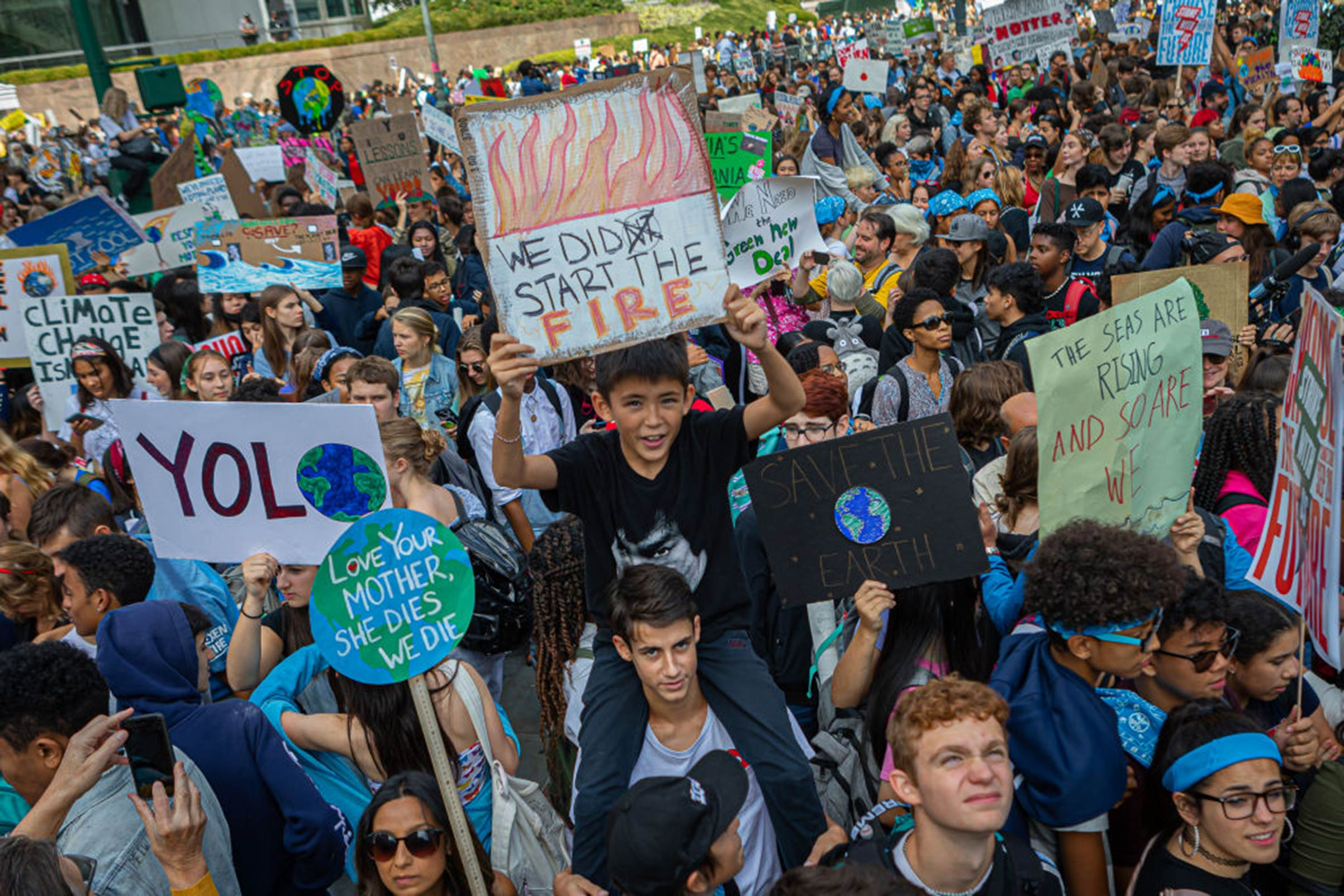 Organizers estimated that 250,000 people marched in New York City on Sept. 20 as part of a global strike protesting climate change.