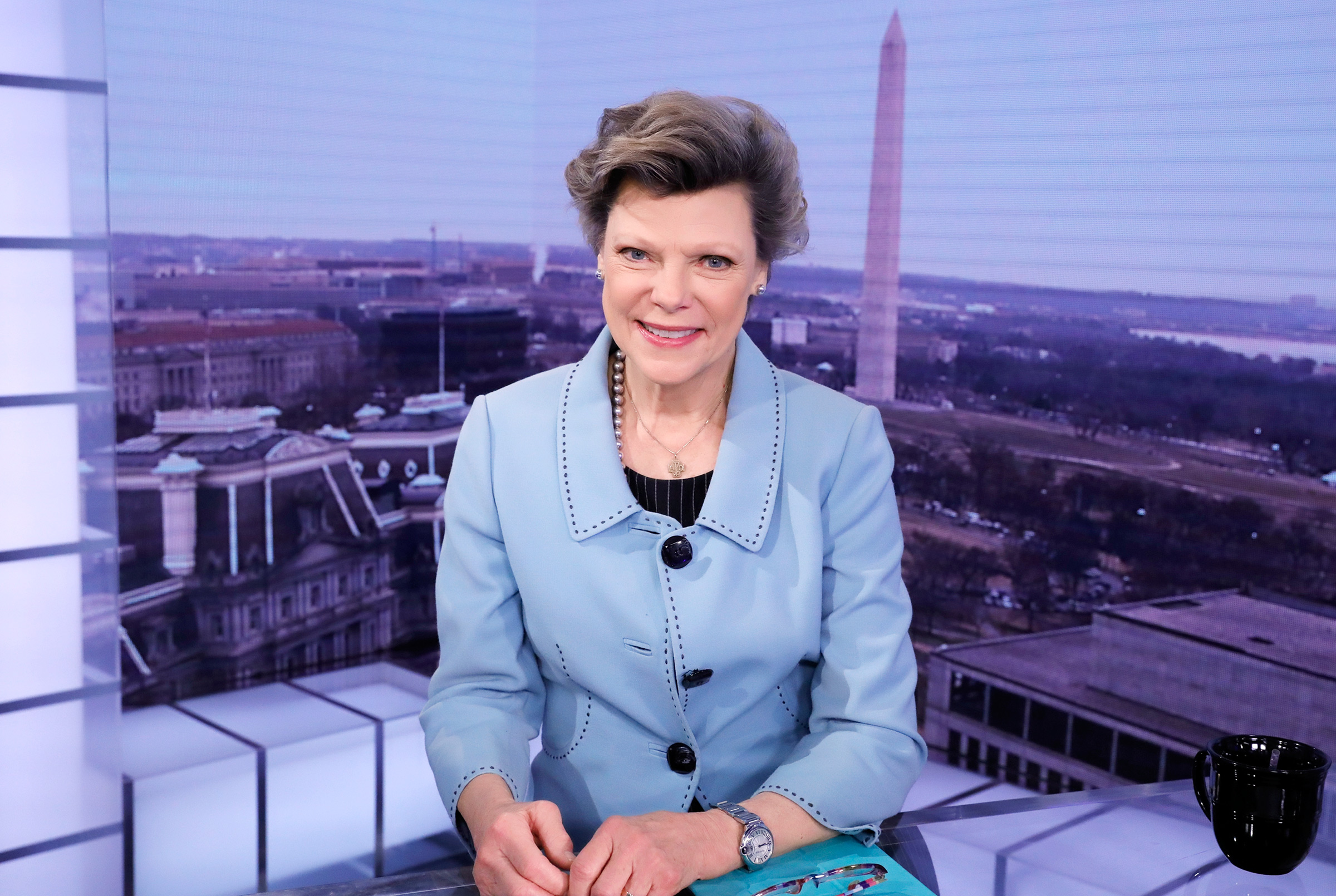 Cokie Roberts covers the inauguration of President Donald Trump, Jan. 20, 2017