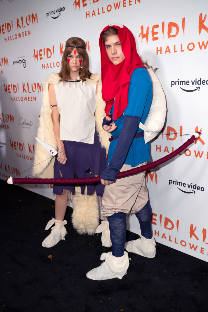 Barbara Palvin and Dylan Sprouse attend Heidi Klum's 20th Annual Halloween Party at Cathédrale on October 31, 2019 in New York City.