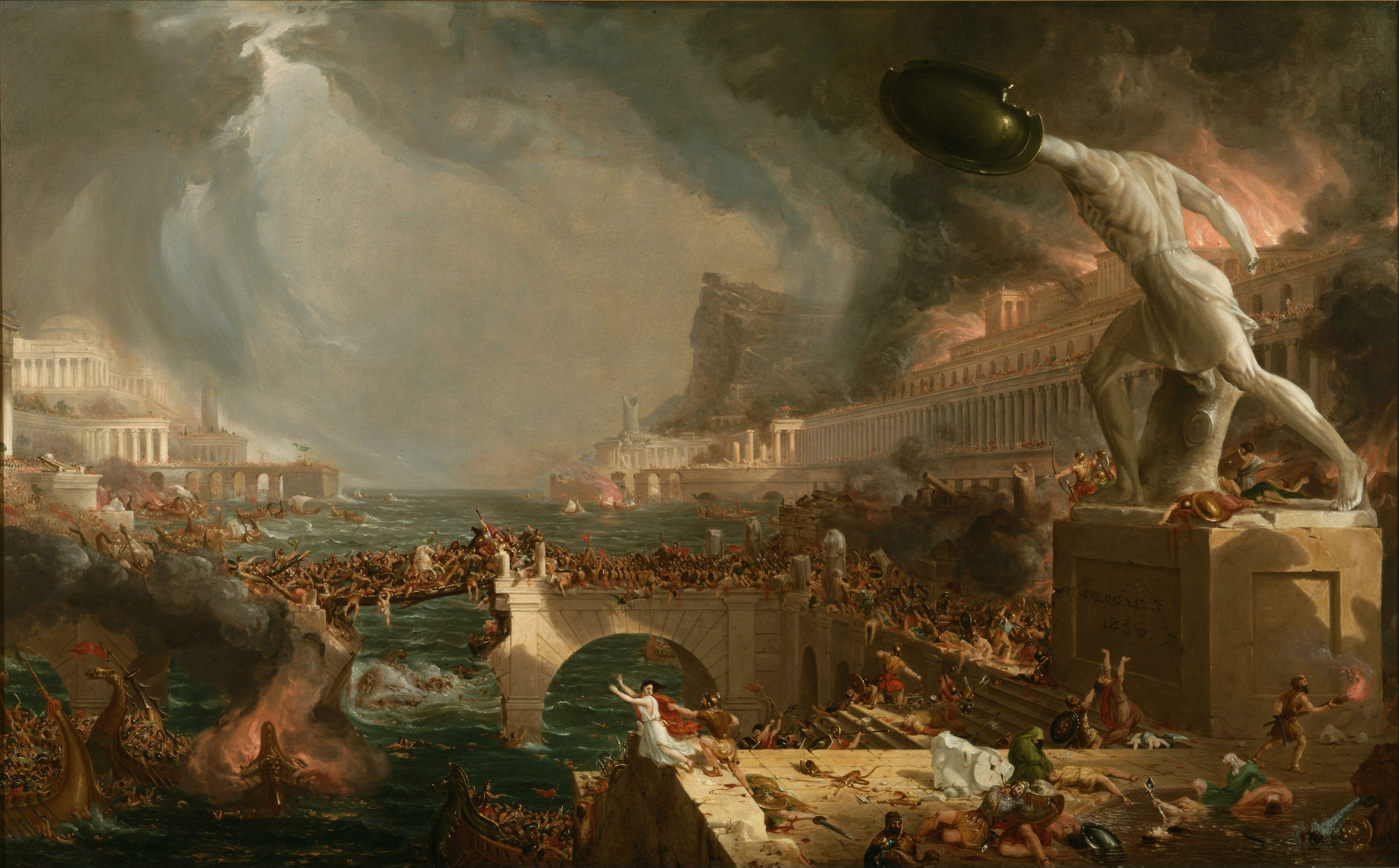 The Course of Empire: Destruction, 1836, by Thomas Cole. Found in the collection of the New-York Historical Society.