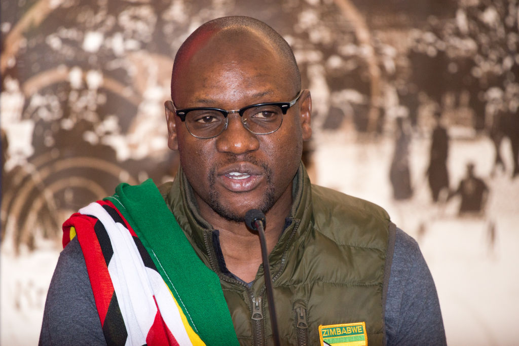 Evan Mawarire, the Zimbabwean pastor who started the This Flag movement to protest the corruption of the Mugabe regime, speaks at the opening press conference of the 2017 Oslo Freedom Forum on May 22 2017 at the Intercontinental Hotel in central Oslo, Norway.