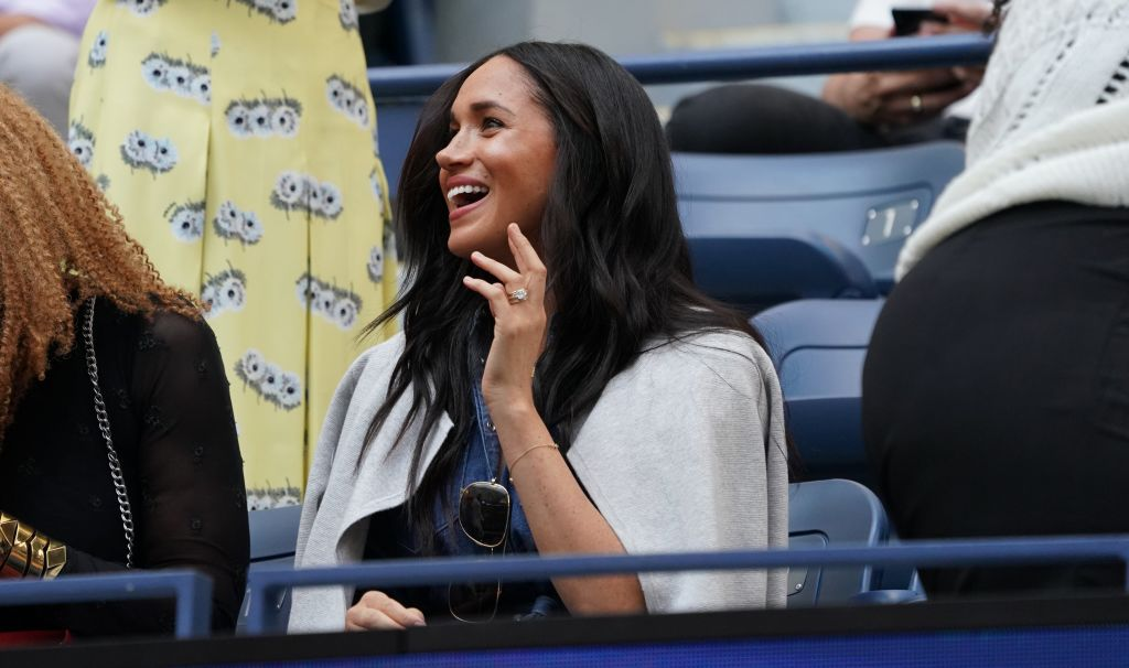Meghan, Duchess of Sussex arrives to watch Serena Williams against Bianca Andreescu during the Women's Singles Finals match at the 2019 U.S. Open at the USTA Billie Jean King National Tennis Center in New York on Sept. 7, 2019.