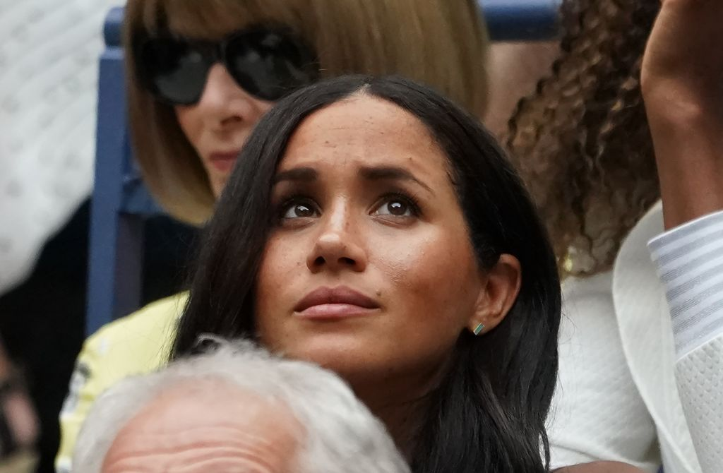 Meghan, Duchess of Sussex watches Serena Williams play Bianca Andreescu of Canada during the Women's Singles Finals match at the 2019 U.S. Open at the USTA Billie Jean King National Tennis Center in New York on Sept. 7, 2019.