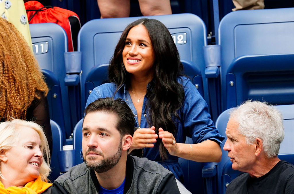 Meghan Markle cheers on Serena Williams on September 07, 2019 in New York City.