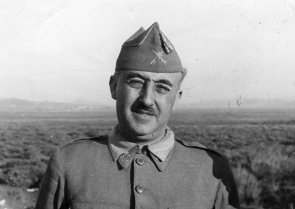 Spanish military dictator General Francisco Franco (1892 - 1975) on 27th August 1937.
