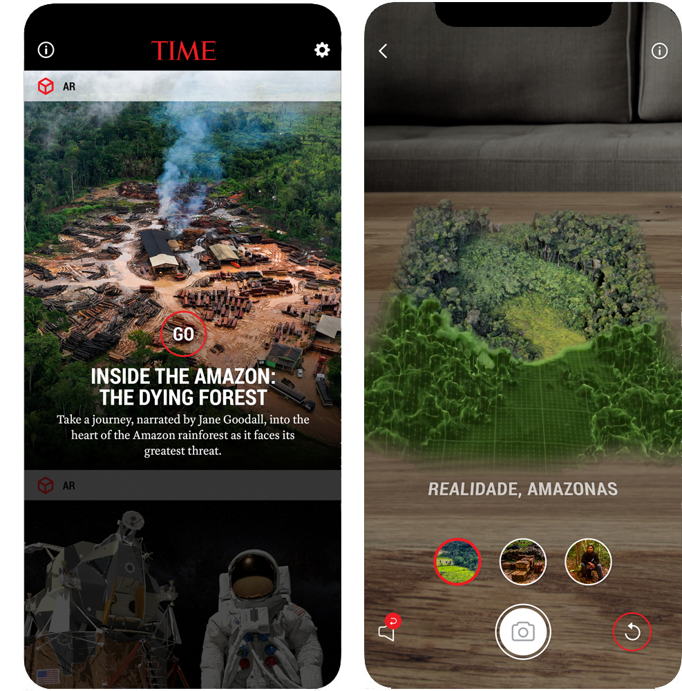 'Inside the Amazon: The Dying Forest' AR Experience