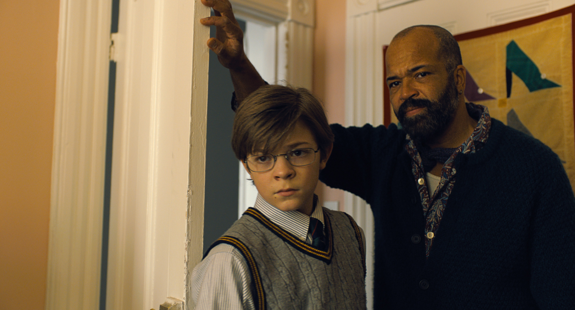 Jeffrey Wright plays Hobie, who helps to raise young Theo (Oakes Fegley) in 'The Goldfinch.'
