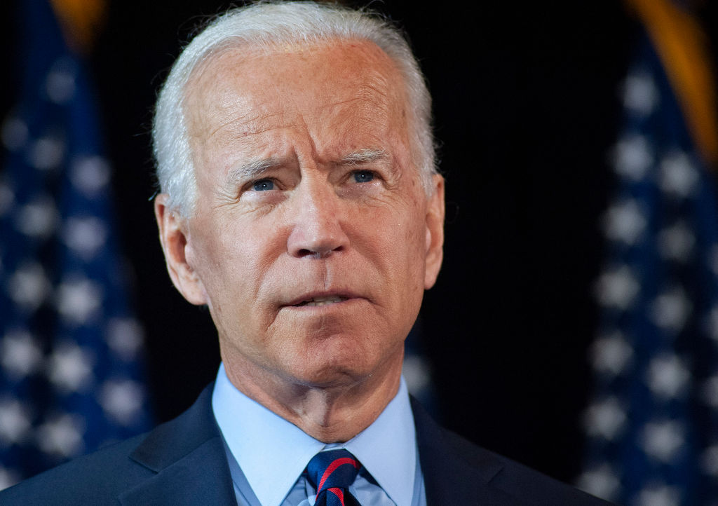 Democratic candidate for president, former Vice President Joe Biden makes remarks about the DNI Whistleblower report at the Hotel DuPont on Sept. 24, 2019 in Wilmington, Del.