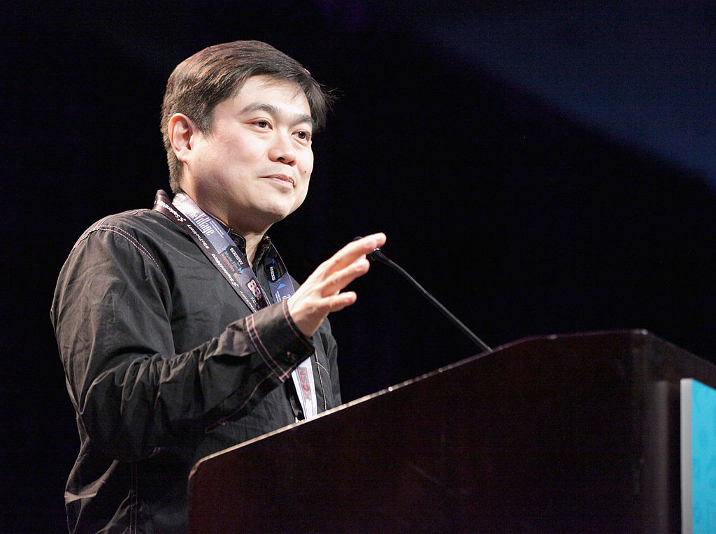Joi Ito speaks onstage at the SXSW Interactive Awards Ceremony during the 2014 SXSW Music, Film + Interactive Festival at Hilton Hotel on March 11, 2014 in Austin, Texas.